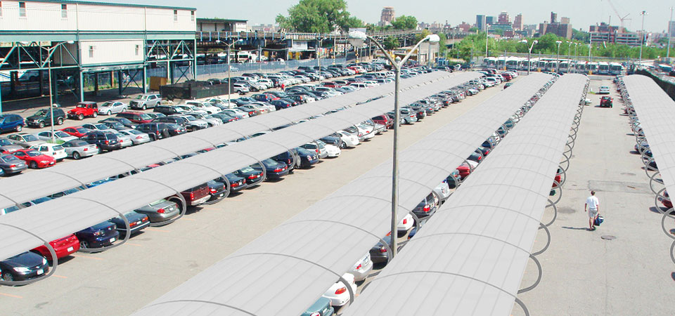 Tettoia pensilina auto centri commerciali aree commerciali